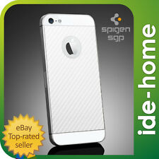 SPIGEN SGP iPhone SE / 5S Screen Protector x Back Skin Guard Set - Carbon White