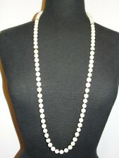 Angelskin Coral Flapper Necklace Opera Style 1940s with 14 kt Gold Beads