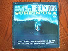 "THE BEACH BOYS ""SURFIN' USA"" LP GREEN LABEL CAPITOL BRIAN WILSON VG+"