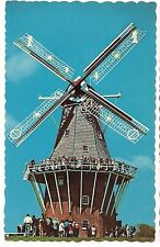 De Zwaan The Swan WINDMILL HOLLAND MICHIGAN MI Postcard Wheat Flour Grinder