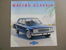 1982 Chevrolet Malibu Classic Brochure