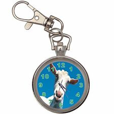 Funny Sheep Silver Key Ring Chain Pocket Watch