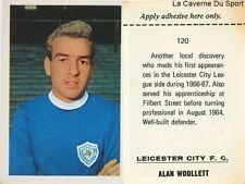 120 ALAN WOOLLETT # LEICESTER CITY.FC STICKER FKS WONDERFUL WORLD OF SOCCER 1969