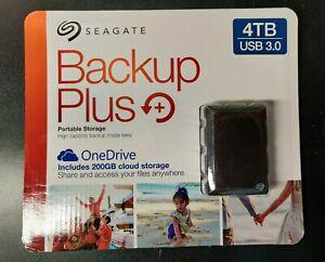 Seagate Backup Plus 4TB Black Portable External Hard Drive - STDR4000100 USB 3.0