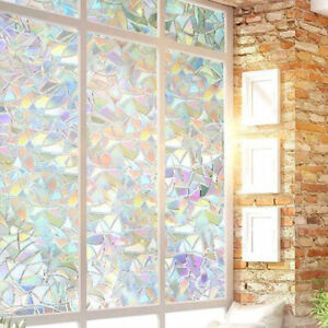 2m Rainbow Privacy Frosted Frosting Removable Glass Sticker Window Film Bathroom