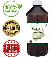 Aloe Vera Oil -100% Pure Organic Cold Pressed Carrier Liquid Skin Hair Face BULK
