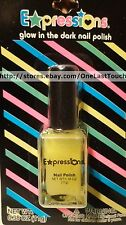 EXPRESSIONS~Glow in the Dark Nail Polish NEON YELLOW Enamel .38 oz/11 g (carded)