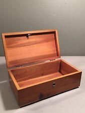 Vintage Lane Cedar Chest Miniature Salesman Sample Jewelry Trinket Wood Box