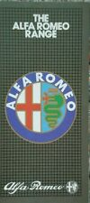 ALFA ROMEO tutti i modelli di foglio-ottobre 1982 Inc ALFETTA SPRINT GTV6 6