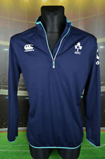 IRFU IRELAND CANTERBURY THERMOREG RUGBY SHIRT (L) JERSEY TOP BLOUSE MENS NAVY