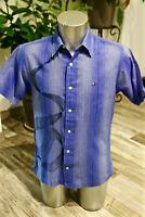 chemise bleue à broderies manches courtes TOMMY HILFIGER taille M excellent état