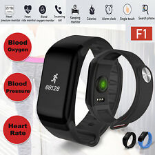 Bluetooth Blood Pressure Heart Rate Bracelet Smart Band Sports Fitness Watch New
