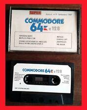 GIOCHI COMMODORE 64 CASSETTA SUPER COMMODORE 64 & 128 N. 9 GIOCHI RETROCOMPUTER