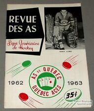 1962-63 AHL Quebec Aces Program Serge Aubry Cover