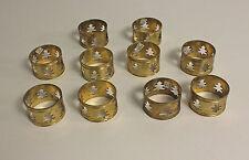 Antique Vintage Brass Napkin Ring Holders Set of 10 Seasonal