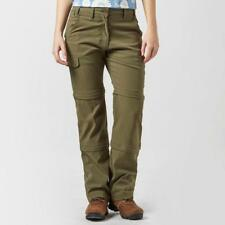 PETER STORM Women's Stretch Double Zip Off Trousers Khaki Size UK 16 DH087 AA 20