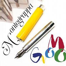 Montegrappa Gnomo Celluloid Ag925 Sterling Silver 18K Pocket Fountain Pen Yellow