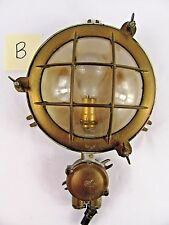 Vintage Brass Copper Marine Deck Light  Boat Ship Light Sconce Industrial Dock B
