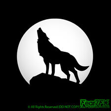 Wolf aullidos a la luna coche furgoneta ventana casa Laptop Decal Sticker Muchos Colrs
