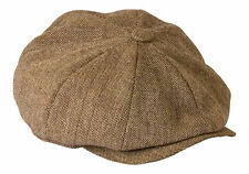 a09037dd5058b  shelby  Oatmeal Brown Tweed Lightweight Summer Cloth Cap by Gamble   Gunn  65cm ·