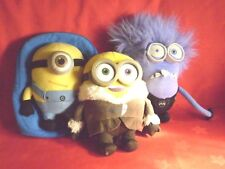 DESPICABLE ME 2 - BUNDLE - TWO PLUSH TOYS AND BACK PACK
