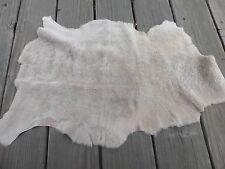 sheepskin shearling leather hide skin pelt Light Grey Brown short silky haired