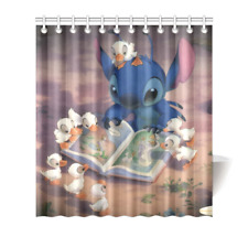 Lilo and Stitch Shower Curtain Bath Decor Curtain 66x72 Inches