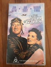 THE WINGS OF EAGLES JOHN WAYNE JOHN FORD MAUREEN O'HARA AS NEW PAL VHS VIDEO