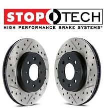 For Chrysler Dodge Set Rear Left & Right Drilled Slotted Brake Rotors StopTech