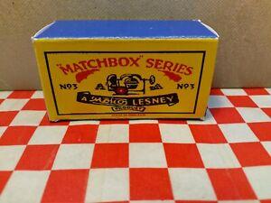 Matchbox Moko Lesney No3 Cement Mixer EMPTY Repro Box Only NO MIXER