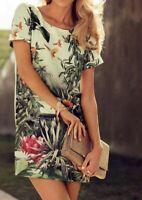 H&M Tropical Floral Toucan Print Shift Dress, Conscious Collection US 10 / UK 12