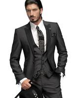 Men's Suits Jacket Pants Tuxedos Formal Groom Size S L XL Man Coat Vest 3 Pcs