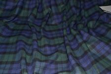 "Blackwatch Plaid Flannel Yarn Dyed 100% Cotton 56"" Wide Fabric By The Yard"
