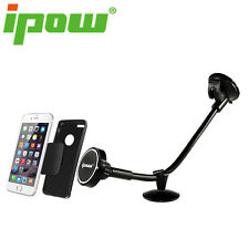 IPOW Long Arm Magnetic Windshield Car Mount Phone Holder Cradle for Smartphone