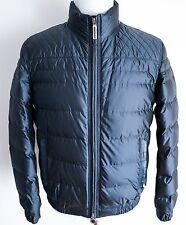 $11400 STEFANO RICCI Blue Silk Cashmere Crocodile Leather Jacket 50 EU Medium