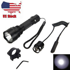 5000Lumen Cree XM-L T6 LED Flashlight Torch Light+Rifle Mount Gun+Remote Switch
