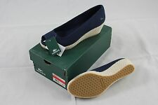 "BNIB Lacoste ""Calvante"" Dark Navy Blue Textile Slip-on Medium Heels sz 9.5"
