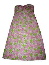 Women Lilly Pulitzer Black Jack Cat Paisley Sabrina Strapless  Dress Size 10