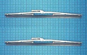 Spazzole tergicristallo cromate Fiat 500 F-L-R + varie  (2 p.z.)-Wiper blades
