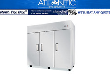 Commercial Three Door Upright Display Freezer full stainless steel