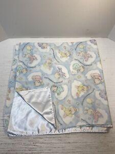 "Small Wonders Special Joys Baby Blanket Handmade Daisy Kingdom Bears Clouds 38"""