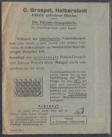 46028) HALBERSTADT 1924 Umschlag mit Firmen-Reklame C. Graepel Bleche