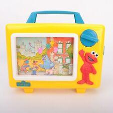 VINTAGE Sesame Street Tyco Elmo Musical TV Music Box Wind Up Baby-Preschool