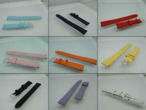 14mm Tony Genuine Leather watch straps,Steel Buckle,Two keepers,Stitched,Colours