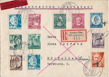 Franz. Zone 1949 Einschreiben-Eilboten Brief mit MiNr. 46 - 48, Satz und andere.