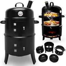 3en1 Barbecue Smoker - Grill - BBQ Fumeur smoker & Four- Thermomètre & 2 Grilles