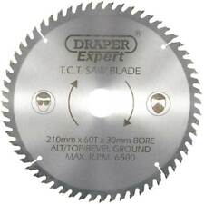 Draper Expert 210mm Circular Saw Blade 30mm Bore 60T Fits For Makita Electric
