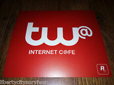 GRAND THEFT AUTO IV gtaiv GTA 4 GTA4 TW @ Internet Cafe RARE PROMO Tappetino Mouse Pad