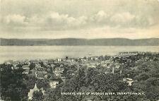 TARRYTOWN NY BIRD'S-EYE VIEW OF HUDSON RIVER 1944 P/C