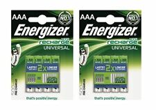 8 x Energizer Rechargeable Universal AAA 500mAh Batteries